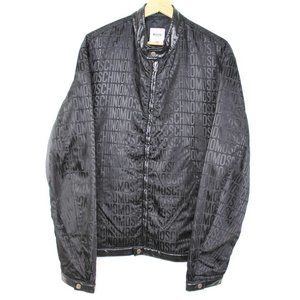 Vintage Moschino Jeans Leather Jacket Black 38